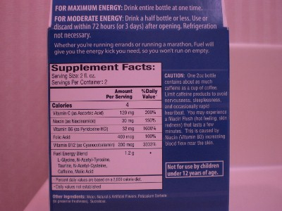 Supplement facts: it only has 4 calories per serving but look at how much vitamin B6 and B12 it has per serving