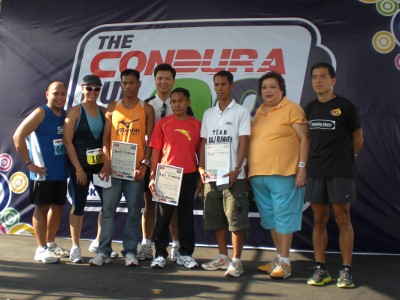 The winners of Condura Run 21K 2009 (Male)