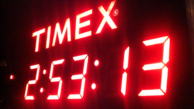 """This was the actual time, although it was a few seconds off """"Garmin Standard Time"""""""