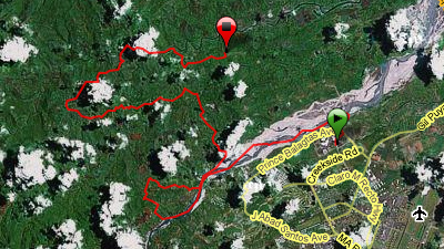 First 32 of 100K route of TNF100 Philippines 2009